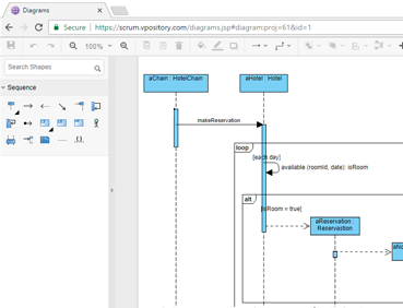 Online Sequence Diagram tool