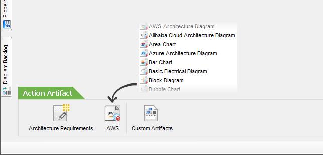 Create web diagram for custom process artifact
