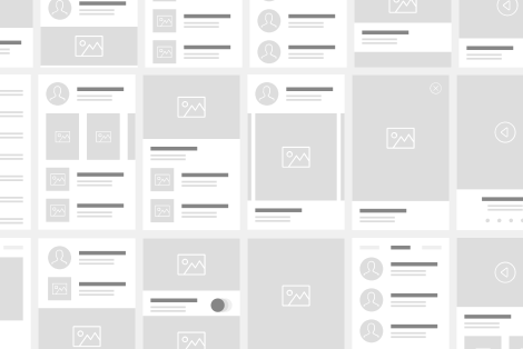 Draw or compose wireframes, at your own choice