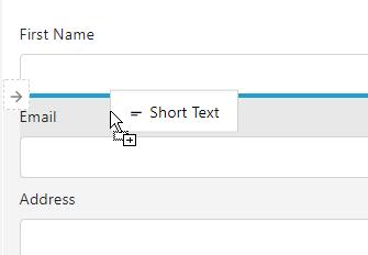 Drag-and-drop form designer